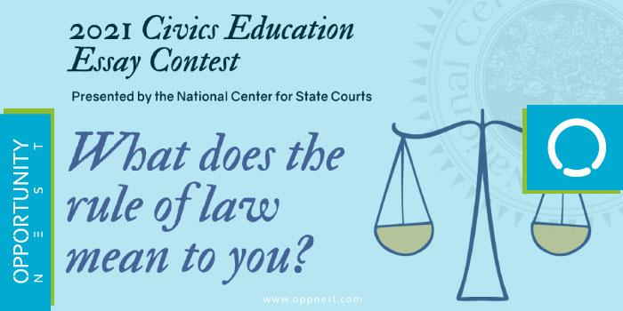 Photo of Civics Education Essay Contest 2021