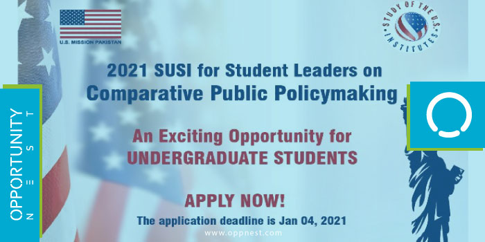Photo of SUSI Student Leaders – Comparative Public Policymaking Program 2021