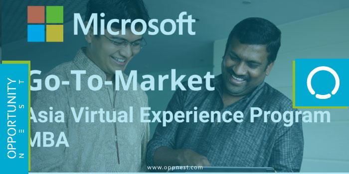 Photo of Go-To-Market: MBA Asia Virtual Experience Program – Microsoft 2021