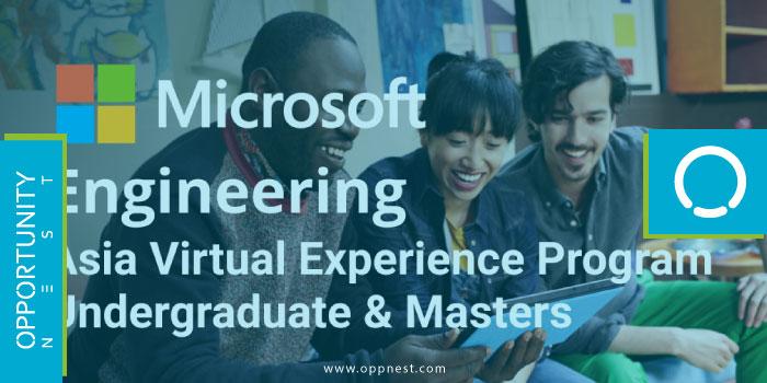 Photo of Engineering: Undergraduate & Masters Asia Virtual Experience Program – Microsoft 2021